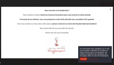 Site internet de Ariane Hotel