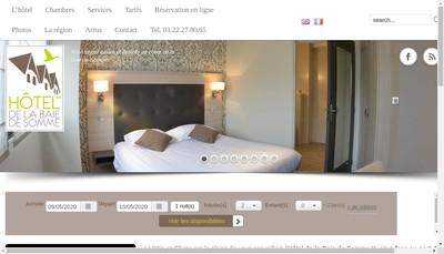 Site internet de Hotel de la Baie de Somme