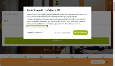 Site internet de B&B Hotels