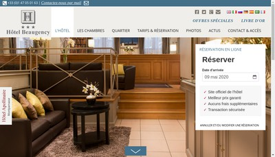 Site internet de Beaugency Hotel