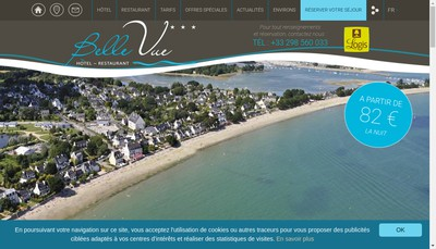 Site internet de Hotel Belle Vue