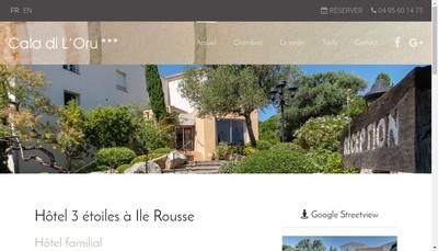 Site internet de Cala Di l'Oru