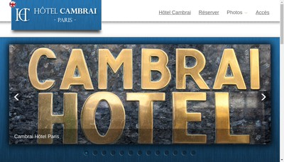 Site internet de Hotel Cambrai