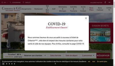 Site internet de Hotel de Chiberta et du Golf