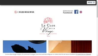 Site internet de Hotel du Clos de la Vouge