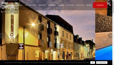 Site internet de Hotel de Compostelle