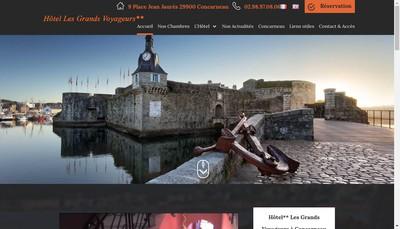 Site internet de Hotel les Grands Voyageurs