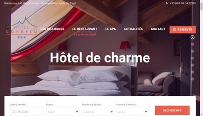 Site internet de Hotel Corrieu