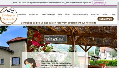 Site internet de L'Auberge de Costaroche