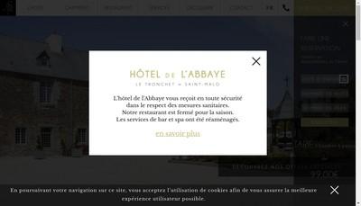 Site internet de Hotel de l'Abbaye, le Jardin de l'Abbaye