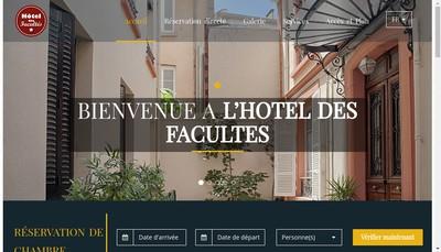 Site internet de Hotel des Facultes
