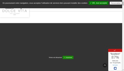 Site internet de Dolce Vita