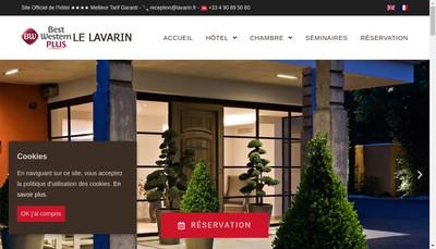 Site internet de Hotel du Lavarin