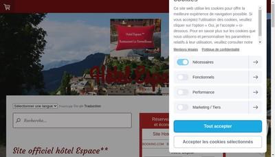 Site internet de Hotel Espace