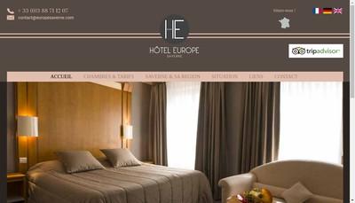 Site internet de Europe Hotel Saverne
