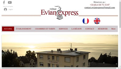 Site internet de Evian Express