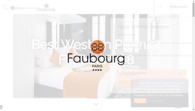 Site internet de Hoteliere Faubourg 88