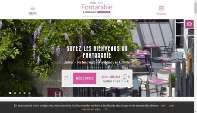 Site internet de Hotel Fontarabie