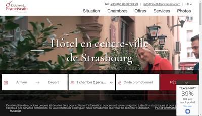 Site internet de Hotel au Couvent du Franciscain