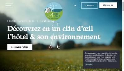 Site internet de Hotel du Golf de Saint Laurent