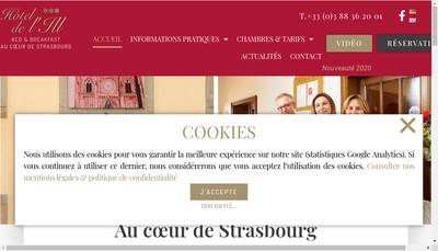 Site internet de Hotel de l'Ill