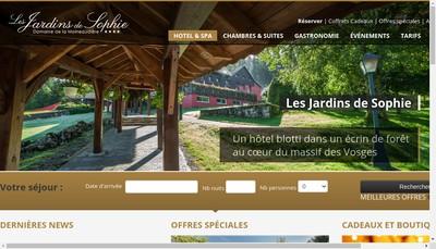Site internet de Les Jardins de Sophie