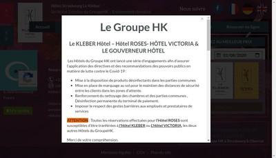 Site internet de Le Kleber Hotel