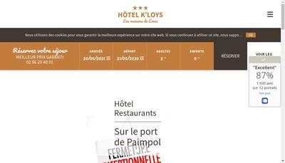 Site internet de Hotel le K'Loys - au Bistrot - Chez Tonton Guy