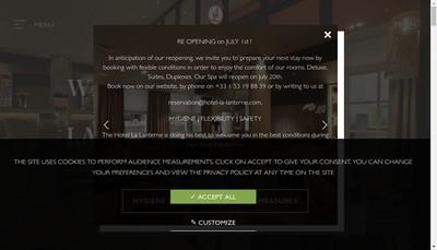 Site internet de Montagne Hotel