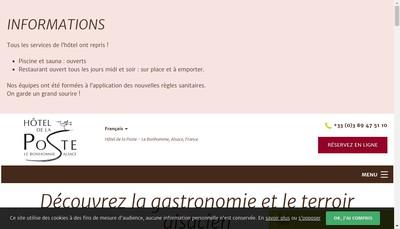 Site internet de Restaurant la Behine