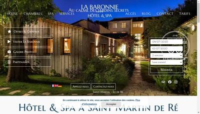 Site internet de La Baronnie