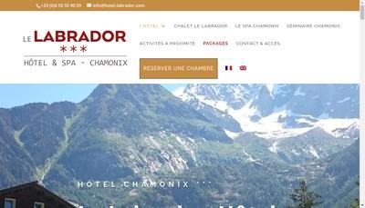 Site internet de Hotel le Labrador