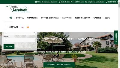 Site internet de SAS Hotellerie Laminak
