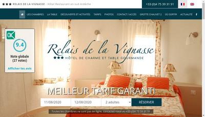Site internet de Relais de la Vignasse
