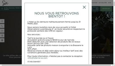 Site internet de Le Six