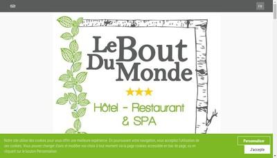 Site internet de Hotel le Bout du Monde