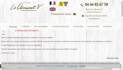 Site internet de Hotel le Clement V