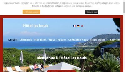 Site internet de Hotel les Bouis