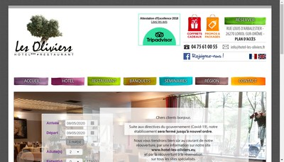 Site internet de Les Oliviers