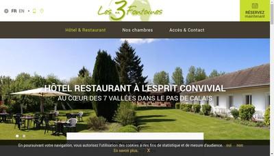 Site internet de Les Trois Fontaines