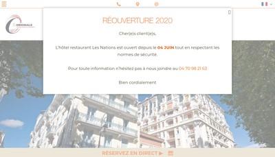 Site internet de Hotel les Nations - le Napoleon