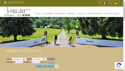 Site internet de Le Vieux Logis