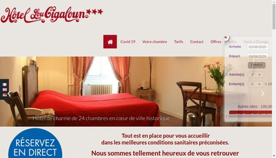 Site internet de Lou Cigaloun