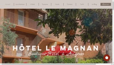 Site internet de Hotel le Magnan