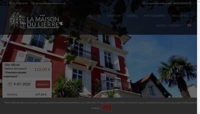 Site internet de La Maison du Lierre