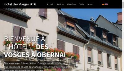 Site internet de Hotel Restaurant des Vosges