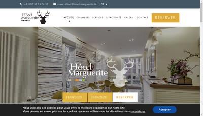 Site internet de Hotel Marguerite