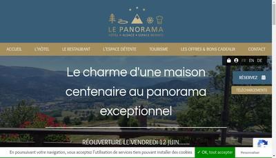 Site internet de Hotel Restaurant le Panorama