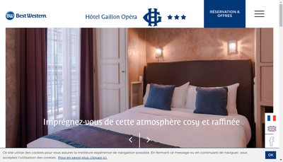 Site internet de Hotel Gaillon Opera