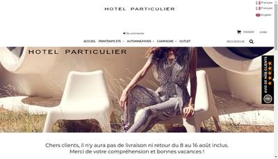 Site internet de Hotel Particulier